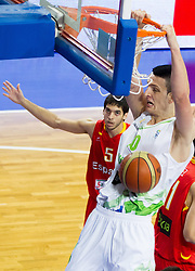 Alen Omic of Slovenia during basketball match between National teams of Slovenia and Spain in Qualifying Round of U20 Men European Championship Slovenia 2012, on July 18, 2012 in Domzale, Slovenia. (Photo by Vid Ponikvar / Sportida.com)