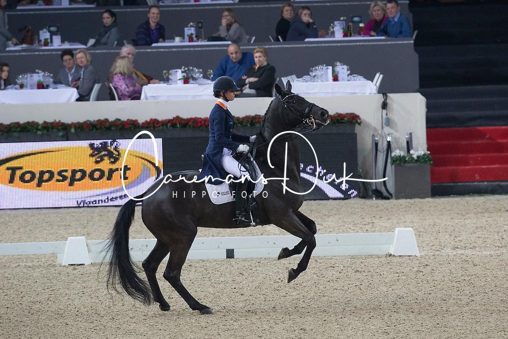 Cornelissen Adelinde (NED) - Tiara<br /> Freestyle Intermediare I<br /> Flanders Christmas Jumping - Mechelen 2012<br /> © Dirk Caremans