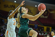 March 18, 2016; Tempe, Ariz;  Green Bay Phoenix guard/forward Jessica Lindstrom (21) drives to the basket for a layup during a game between No. 7 Tennessee Lady Volunteers and No. 10 Green Bay Phoenix in the first round of the 2016 NCAA Division I Women's Basketball Championship in Tempe, Ariz.