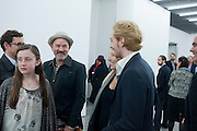 ANGELICA JOPLING; MICHAEL STIPE; SAM TAYLOR WOOD; AARON JOHNSON, Opening of new White Cube Gallery in Bermondsey. London. 11 October 2011. <br /> <br />  , -DO NOT ARCHIVE-© Copyright Photograph by Dafydd Jones. 248 Clapham Rd. London SW9 0PZ. Tel 0207 820 0771. www.dafjones.com.