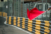 Red flag<br /> <br /> 65th Macau Grand Prix. 14-18.11.2018.<br /> Food4U Macau Touring Car Cup.<br /> Macau Copyright Free Image for editorial use only