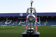 The EFL Championship Trophy on desplay before the EFL Sky Bet Championship match between Queens Park Rangers and Brighton and Hove Albion at the Loftus Road Stadium, London, England on 7 April 2017.
