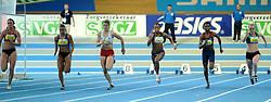 07-02-2010 ATLETIEK: NK INDOOR: APELDOORN<br /> Nederlands kampioen 60 meter Dafne Schippers, Anouk Hagen, Eugenie Kool en rechts Jamile Samuel, Kadene Vassell en Nikki van Leeuwen<br /> ©2010-WWW.FOTOHOOGENDOORN.NL