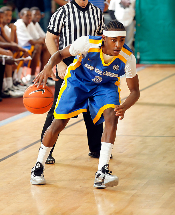 April 10, 2011 - Hampton, VA. USA;  Anthony Barber participates in the 2011 Elite Youth Basketball League at the Boo Williams Sports Complex. Photo/Andrew Shurtleff