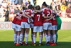 February 23, 2019 - Sheffield, England, United Kingdom - Teamhuddle Arsenal..during the FA Women's Continental League Cup Final football match between Arsenal Women and Manchester City Women at Bramall Lane on February 23, 2019 in Sheffield, England. (Credit Image: © Action Foto Sport/NurPhoto via ZUMA Press)