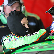 NASCAR Sprint Cup driver Danica Patrick prepares to enter her car prior to her NASCAR Daytona 500 practice session at Daytona International Speedway on Wednesday, February 20, 2013 in Daytona Beach, Florida.  (AP Photo/Alex Menendez)