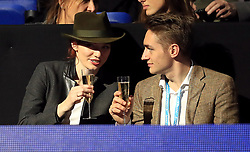 Eleanor and Ross Tomlinson in the crowd during day six of the NITTO ATP World Tour Finals at the O2 Arena, London.