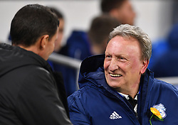 Watford manager Javi Gracia (left) and Cardiff City manager Neil Warnock shake hands prior to kick-off during the Premier League match at the Cardiff City Stadium.