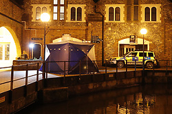 © Licensed to London News Pictures. 06/03/2018. Salisbury, UK. The scene  in Salisbury as a police cordon has been extended aground the area ehere former Russian spy Sergei Skripal and his daughter were taken after becoming ill with suspected poisoning. The couple where found unconscious on bench in Salisbury shopping centre. Specialist units have been called in to deal with any possible contamination. Photo credit: Peter Macdiarmid/LNP