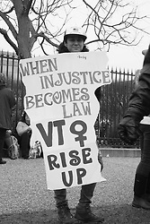 """""""When Injustice Becomes Law VT Rise Up"""" at the Women's March on Washington, D.C."""