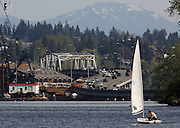 The 520 West Connection Bridge. (Ken Lambert / The Seattle Times, 2014)