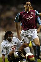 Photo: Olly Greenwood.<br />Tottenham Hotspur v West Ham United. The Barclays Premiership. 22/10/2006. Tottenham's Edgar Davids tackles West Ham's Yossi Benayoun
