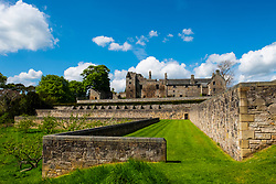 Aberdour Castle in Fife Scotland UK