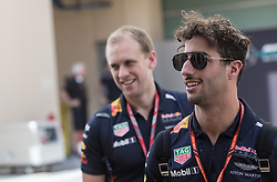 November 23, 2017 - Abu Dhabi, United Arab Emirates - Daniel Ricciardo of Australia and Red Bull Racing Team driver arrives to the paddock on Formula One Etihad Airways Abu Dhabi Grand Prix on Nov 23, 2017 in Yas Marina Circuit, Abu Dhabi, UAE. (Credit Image: © Robert Szaniszlo/NurPhoto via ZUMA Press)