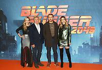 Sylvia Hoeks, Harrison Ford, Ryan Gosling & Ana de Armas, Bladerunner 2049 - Cast Photocall, The Corinthia Hotel, London UK, 21 September 2017, Photo by Brett D. Cove