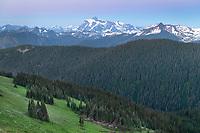 Mount Shuksan seen from Skyline Divide. Mount Baker Wilderness North Cascades Washington
