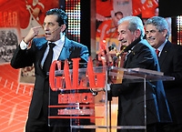 20120227: LISBON, PORTUGAL - SL Benfica 108th anniversary gala at Coliseu dos Recreios in Lisbon, Portugal.<br /> In photo: Luis Filipe Vieira, Futre and Chalana.<br /> PHOTO: Alvaro Isidoro/CITYFILES
