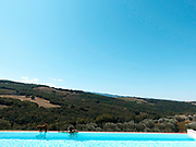 Val D'Orcia, Toscana, relaxing by the pool