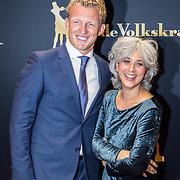 NLD/Utrecht/20170921 - Premiere Kuyt, Dirk Kuyt, documentairemaakster Deborah van Dam en Getruide Kuyt - van Vuren