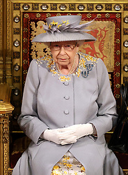 Queen Elizabeth II delivers a speech from the throne in House of Lords at the Palace of Westminster in London as she outlines the government's legislative programme for the coming session during the State Opening of Parliament. Picture date: Tuesday May 11, 2021.