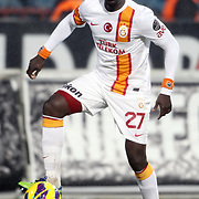 Galatasaray's Emmanuel Eboue during their Turkish superleague soccer derby match Trabzonspor between Galatasaray at the Avni Aker Stadium in Trabzon Turkey on Sunday, 23 December 2012. Photo by TURKPIX
