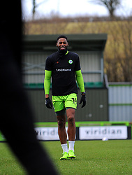 Jamille Matt of Forest Green Rovers warms up prior to kick-off- Mandatory by-line: Nizaam Jones/JMP - 16/01/2021 - FOOTBALL - innocent New Lawn Stadium - Nailsworth, England - Forest Green Rovers v Port Vale - Sky Bet League Two