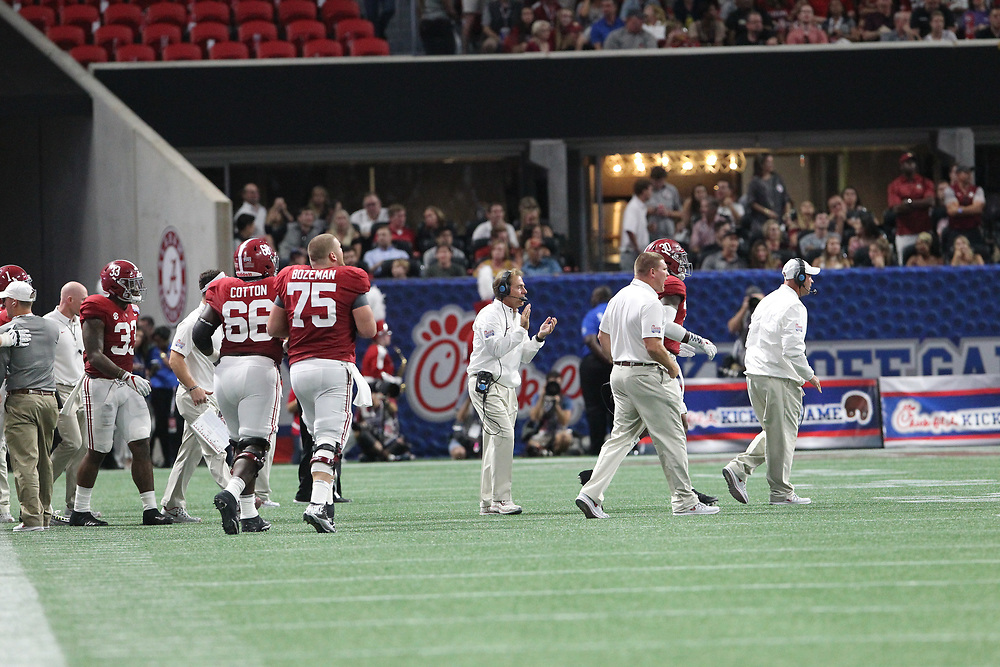 Unedited images during the Chick-fil-A Kickoff NCAA football game between the Florida State Seminoles and the Alabama Crimson Tide, Saturday, September 2, 2017, in Atlanta. (Karl L. Moore via Abell Images for Chick-fil-A Kickoff Game)