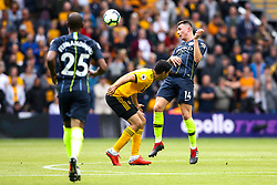 Aymeric Laporte of Manchester City heads the ball - Mandatory by-line: Robbie Stephenson/JMP - 25/08/2018 - FOOTBALL - Molineux - Wolverhampton, England - Wolverhampton Wanderers v Manchester City - Premier League