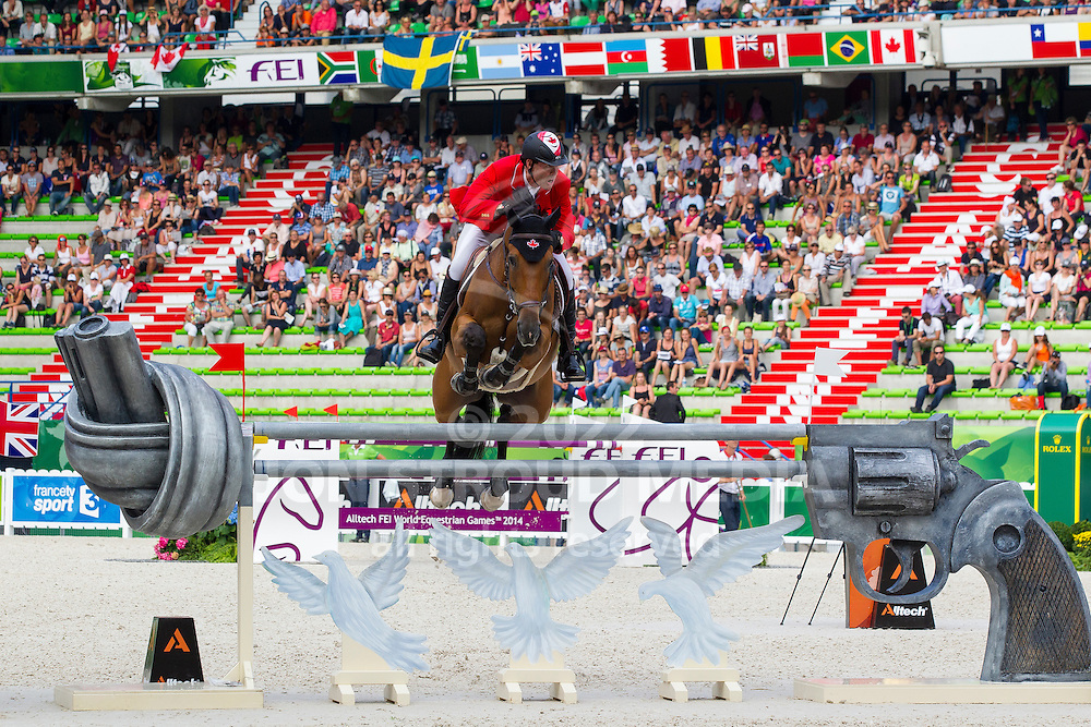Ian Millar, (CAN), Dixson - World Champions, - Second Round Team Competition - Alltech FEI World Equestrian Games™ 2014 - Normandy, France.<br /> © Hippo Foto Team - Leanjo De Koster<br /> 25/06/14