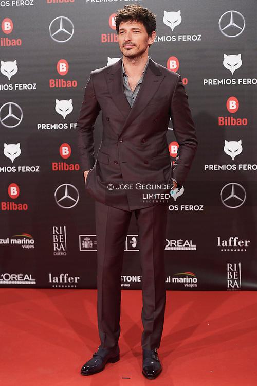 Andres Velencoso attends the 2019 Feroz Awards at Bilbao Arena on January 19, 2019 in Madrid, Spain