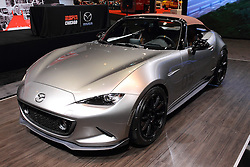 11 February 2016: 2016 MX-5 Spyder.<br /> <br /> First staged in 1901, the Chicago Auto Show is the largest auto show in North America and has been held more times than any other auto exposition on the continent.  It has been  presented by the Chicago Automobile Trade Association (CATA) since 1935.  It is held at McCormick Place, Chicago Illinois<br /> #CAS16