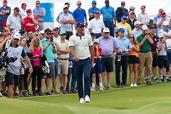May 9, 2019 - Dallas, TX, U.S. - DALLAS, TX - MAY 09: A large gallery follows Brooks Koepka to the ninth green during the first round of the AT&T Byron Nelson on May 9, 2019 at Trinity Forest Golf Club in Dallas, TX. (Photo by Andrew Dieb/Icon Sportswire) (Credit Image: © Andrew Dieb/Icon SMI via ZUMA Press)