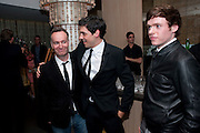 left; ANDREW O'HAGAN, Esquire dinner celebrating being Brilliant, Young and British hosted by editor Jeremy Langmead at Aqua Nueva, Fifth Floor, 240 Regent Street , London 1 June 2010. -DO NOT ARCHIVE-© Copyright Photograph by Dafydd Jones. 248 Clapham Rd. London SW9 0PZ. Tel 0207 820 0771. www.dafjones.com.