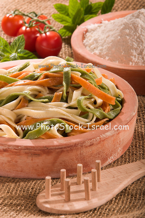 Plate of fettuccini pasta