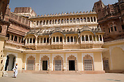 India, Rajasthan, Jodhpur, Mehrangarh fort Interior of the fort