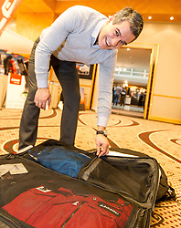 28.01.2014,  Marriott, Wien, AUT, Sochi 2014, Einkleidung OeOC, im Bild Manny Viveiros (Headcoach, Eishockey, AUT) // Manny Viveiros (Headcoach, Icehockey, AUT) during the outfitting of the Austrian National Olympic Committee for Sochi 2014 at the  Marriott in Vienna, Austria on 2014/01/28. EXPA Pictures © 2014, PhotoCredit: EXPA/ JFK
