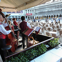 Venice August 20 A general view of the world famous Florian Cafe. A group of Italian tourists were horrified to be charged the equivalent of £85 for four espresso coffees laced with liqueurs in the very central Saint Mark's Square in  Venice.