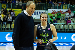 MVP award for Chatrice Marie White of Cinkarna Celje after the basketball match between Akson Ilirija and Cinkarna Celje in Final Round of Pokal Članic 2018/19, on March 10, 2019 in Dvorana Tabor, Maribor, Slovenia. Photo by Blaž Weindorfer / Sportida