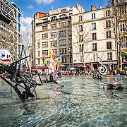 Stravinsky Fountain, Centre Pompidou<br /> Paris