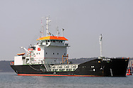 DURBAN - 8 August 2014 - The grab hopper dredger, Italeni arrives in Durban on her maiden voyage from the Bulgarian shipyards where she was constructed. The vessel is the second of three dredgers that the Dutch shipbuilder IHC Merwede has been contracted to build for South Africa's Transnet National Ports Authority. It is 62 metres long and 15 metres wide with a  gross tonnage of 1000 tons and a dead weight of 1490 tons. Italeni, which can carry 750 cubic metres of dredged material still needs to have its crane fitted. Picture: Allied Picture Press/APP