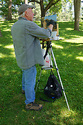 Grings Mill Park, Plein Aire painter Russ Slocum, Berks Co. PA