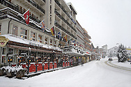 Grindelwald town centre  in the winter snow. Ski resort - Swiss Alps .<br /> <br /> Visit our SWITZERLAND  & ALPS PHOTO COLLECTIONS for more  photos  to browse of  download or buy as prints https://funkystock.photoshelter.com/gallery-collection/Pictures-Images-of-Switzerland-Photos-of-Swiss-Alps-Landmark-Sites/C0000DPgRJMSrQ3U