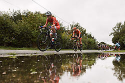 Cecilie Uttrup Ludwig (DEN) at the 2020 UEC Road European Championships - Elite Women Road Race, a 109.2 km road race in Plouay, France on August 27, 2020. Photo by Sean Robinson/velofocus.com