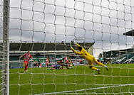 Plymouth Argyle Goalkeeper Michael Cooper (1) makes a save and punches the ball away  during the EFL Sky Bet League 1 match between Plymouth Argyle and Sunderland at Home Park, Plymouth, England on 1 May 2021.