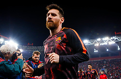 October 31, 2017 - Barcelona's Lionel Messi during the Champions League group D soccer match between Olympiakos and Barcelona at Georgios Karaiskakis stadium at Piraeus port. (Credit Image: © Eurokinissi via ZUMA Wire)