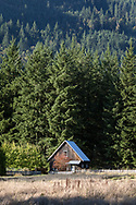 An out building on the Windward Lavender Farm in Columbia Valley, British Columbia, Canada.