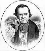 Samuel Wilberforce (1805-1873) English prelate, third son of abolitionist William Wilberforce. Bishop of Oxford 1845, Bishop of Winchester 1869. Known as 'Soapy Sam' for his charm. Opposed Darwinism. From 'The Illustrated London News', 26 July 1873