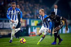 Alex Pritchard of Huddersfield Town takes on Ryan Sessegnon of Fulham - Mandatory by-line: Robbie Stephenson/JMP - 05/11/2018 - FOOTBALL - John Smith's Stadium - Huddersfield, England - Huddersfield Town v Fulham - Premier League