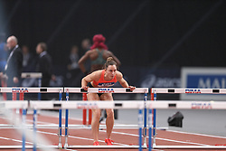 February 7, 2018 - Paris, Ile-de-France, France - Eline Berings of Belgium competes in 60m Hurdles during the Athletics Indoor Meeting of Paris 2018, at AccorHotels Arena (Bercy) in Paris, France on February 7, 2018. (Credit Image: © Michel Stoupak/NurPhoto via ZUMA Press)