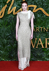 Eleanor Tomlinson attending the Fashion Awards in association with Swarovski held at the Royal Albert Hall, Kensington Gore, London
